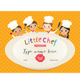 Kids Cooking class certificate design template vector image