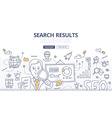 Online Search Doodle Concept vector image