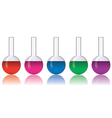 Set of colorful laboratory glassware vector image