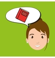 teacher school elements icon vector image