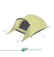 Tent for shelter from the wind in bad weather vector image