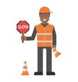 Workers man set vector image