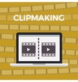 Concept of Movie making work moment yellow vector image