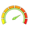 Sport car speedometer icon cartoon style vector image