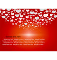 cute hearts on red background vector image
