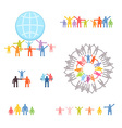 Icons set of family and relations EPS 10 vector image vector image