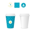 Closed paper cup for coffee with texture vector image