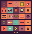 Retro Icons Set vector image