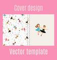 ballerina and confetti pattern cover design vector image