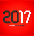 happy new year 2017 greeting card vector image