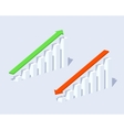 Positive and negative graphs vector image