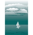 seascape with sailboat vector image