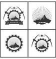 Set of Vintage Emblem of the Mining Industry vector image
