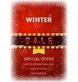 Winter sale flyer with snow vector image