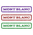 mont blanc watermark stamp vector image