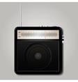 Square retro radio vector image