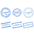 Vitamin B9 stamps vector image