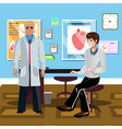 Male patient at the doctor s vector image