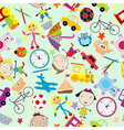 Seamless pattern for kids with toys vector image vector image
