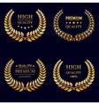 Premium quality laurel wreaths in retro style vector image