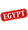 Egypt red square grunge retro style sign vector image