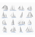 Set of sailing ships vector image
