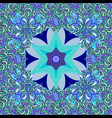 flowers on blue black and violet colors tropical vector image