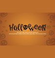 halloween style background design collection vector image