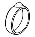isolated ring outline vector image