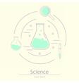 Modern logotype icon laboratory vector image