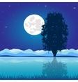 Moon riverside night vector image