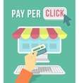 Online Shopping by Computer vector image