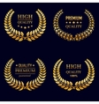 Premium quality laurel wreaths in retro style vector image