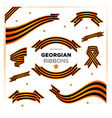 Set of military georgian ribbons for Victory Day vector image