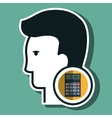silhouette calculator maths icon vector image