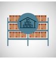 warehouse box storage icon vector image