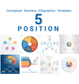 Set Templates Infographics positions 5 vector image