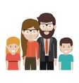 Mother and father with kids design vector image