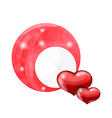 Valentines day bubble with red hearts vector image vector image