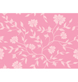 seamless pink floral texture vector image vector image