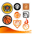 Basketball Design Kit vector image vector image