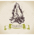 Vintage sketch tourism background vector image