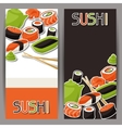 Banners with sushi vector image vector image