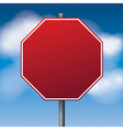 Red Blank Stop Sign vector image vector image