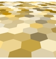 abstract golden hexagonal floor 3d vector image