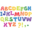 Alphabet scribble letters vector image