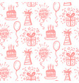 birthday party seamless patterns vector image