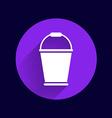 bucket icon button logo symbol concept vector image