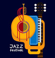 jazz festival vector image