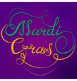 Mardi Gras calligraphic text vector image